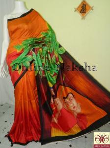 Acid Painted Sonamukhi Silk
