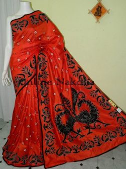Applique Patch Work on Saree