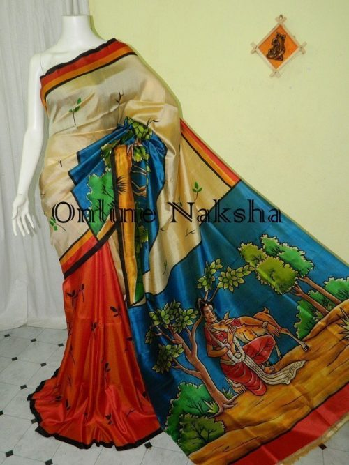 Handpainted Ethnic Silk