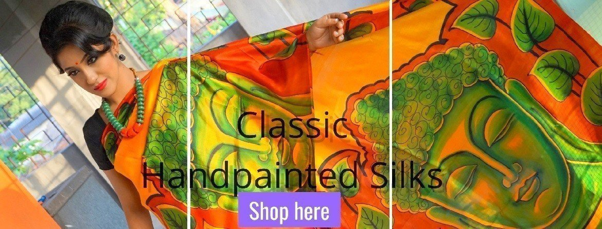 Hand Painted Pure Silk