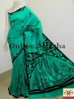 Hand paint Saree