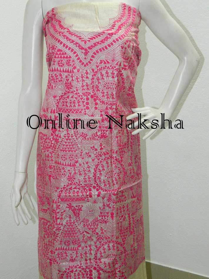 Latest Tussar Dress Material