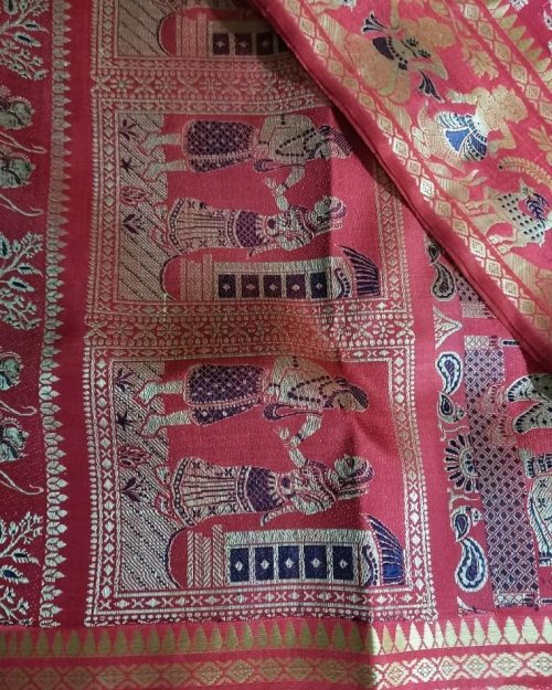 Latest Bishnupuri Baluchari Sari