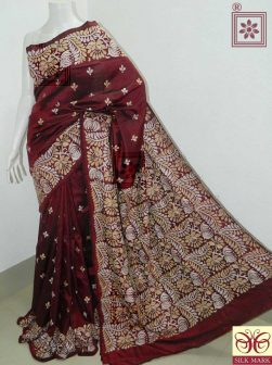 Hand Embroidery Saree Design