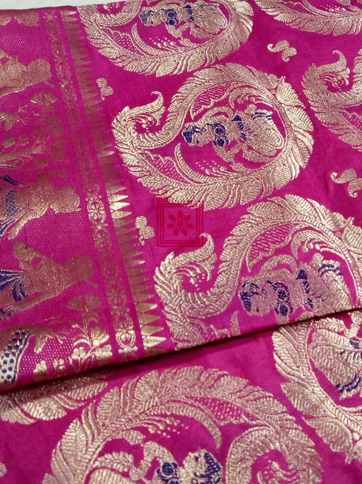 Traditional Bishnupuri Bridal Swarnachari Saree