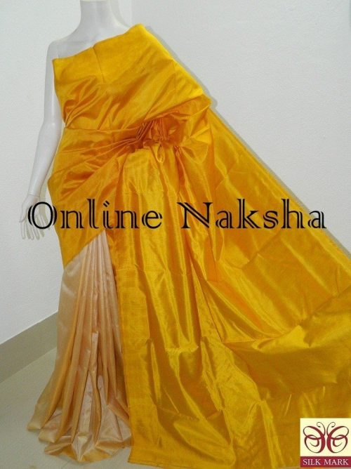 Handloom Plain Pure Silk Saree