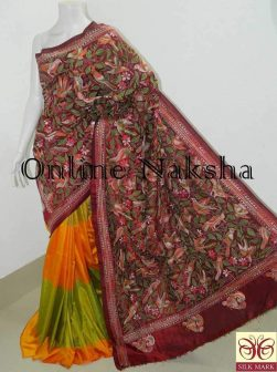 Kantha Work Saree