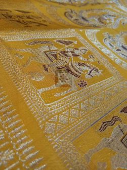 Swarnachari Silk Saree In Yellow Online 4414