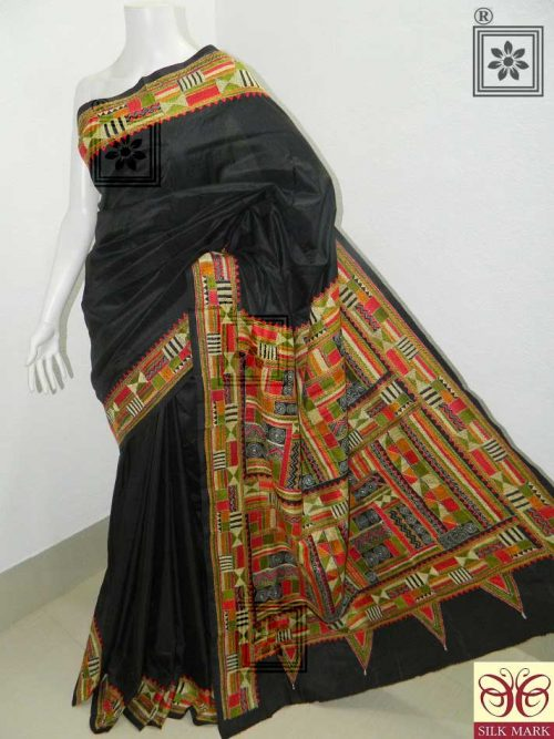 Kantha Stitch Saree Online