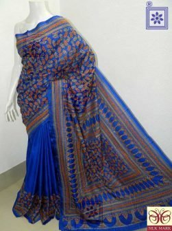 Kantha Embroidery Bangalore Silk Saree