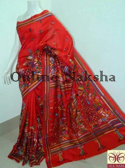 Kantha Stitch Bangalore Silk Saree