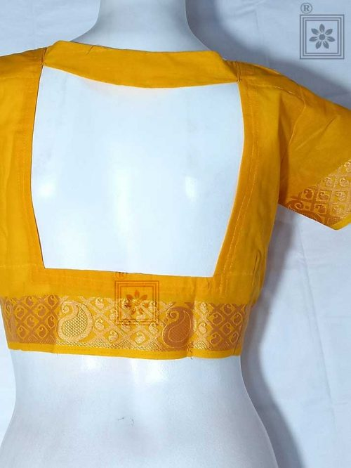 Cotton Blouse with Designer Back Design