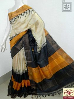 Zari Tussar Silk Printed Saree