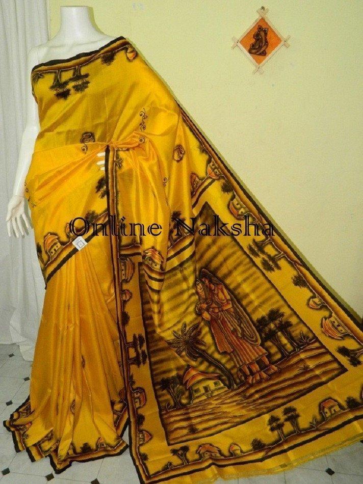 Bishnupuri Pure Silk Saree