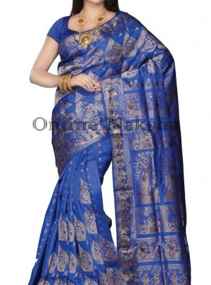 Blue Swarnachari Saree