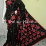 Trendy Applique Pure Silk
