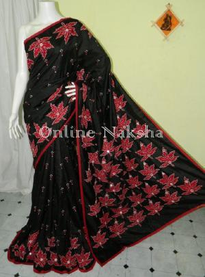 Trendy Applique Pure Silk
