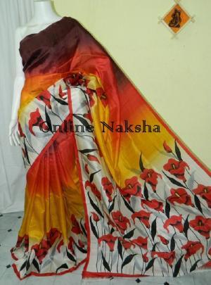 Handpainted Sonamukhi Silk