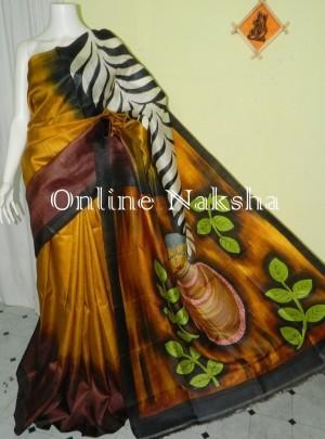 2868 Trendy Acid Paint Silk Saree