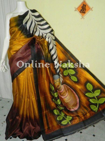 Trendy Acid Paint Silk Saree