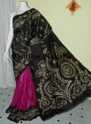 Hand Batik Silk Saree