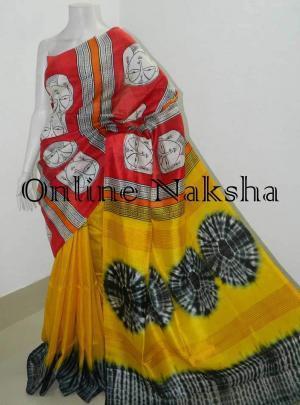Block Printed Silk Saree Online