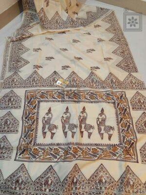 Block Printed Bhishnupuri Silk