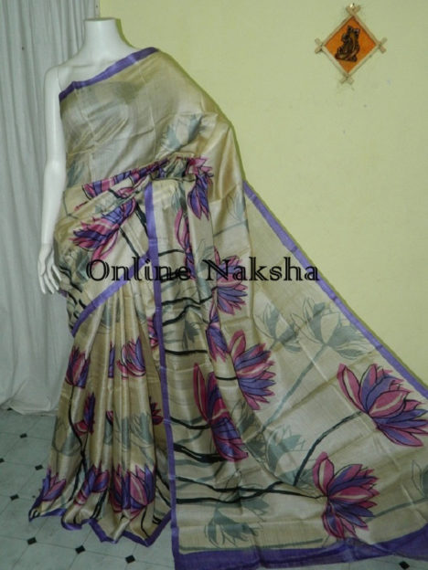 Painted Tussar Silk