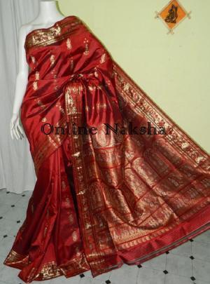 Red Swarnachari Silk