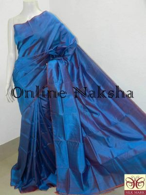 Plain Silk Saree Handloom