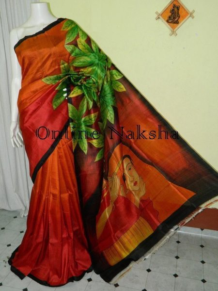 Handpainted Silk Saree