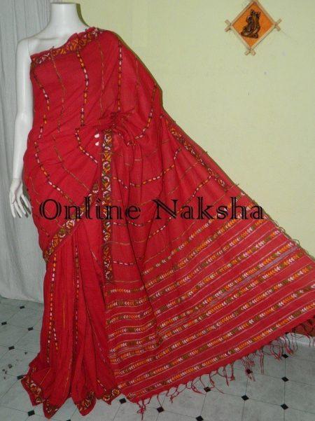 Khesh Cotton Kantha Saree