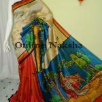 Handpainted Ethnic Silk