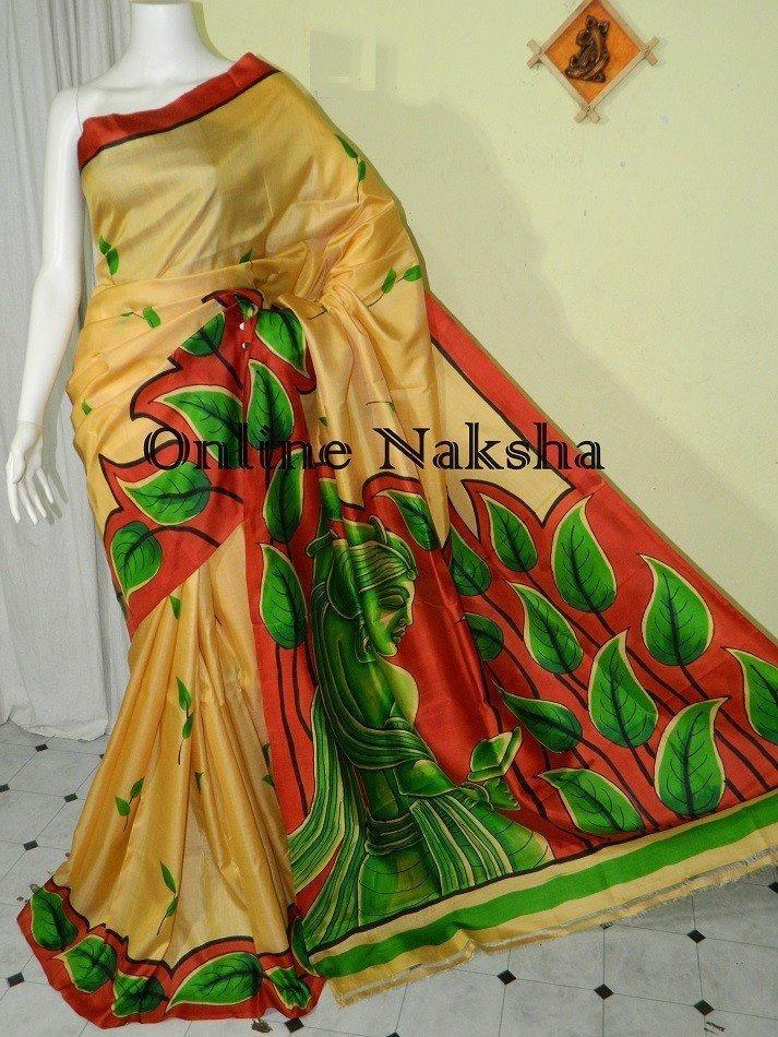 Handpaint Silk Saree