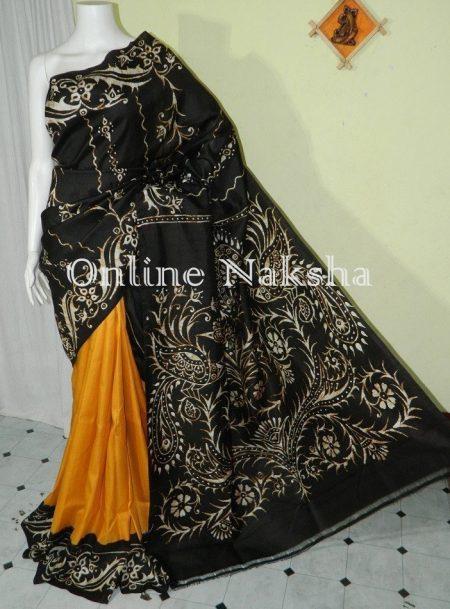 Batik Handpainted Silk Saree
