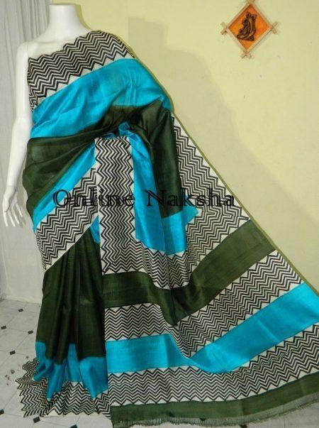 Block Printed Bishnupuri Silk
