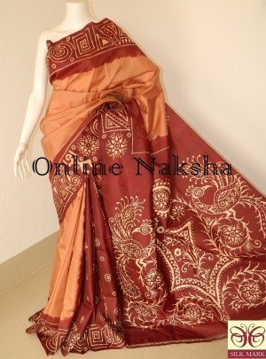 Handpainted Batik Saree Online