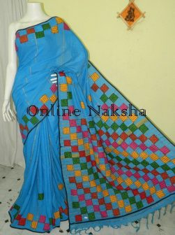 Khesh Cotton Baul Applique Saree