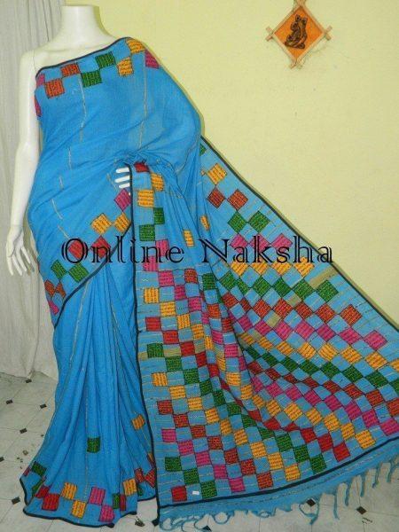 Khesh Cotton Baul Applique Saree