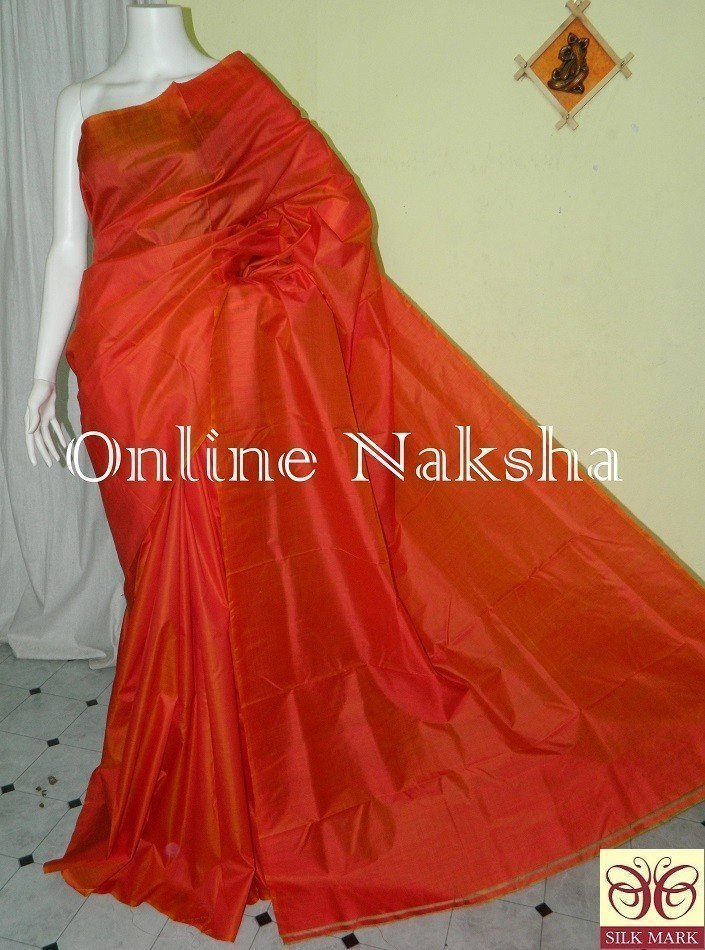 Orange Pure Silk