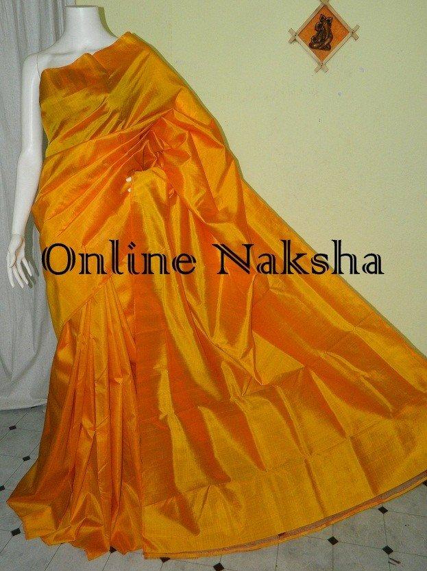 Yellow Silk Sari Online