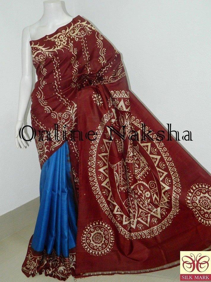 Handloom Batik Saree