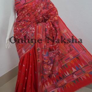 3294 Nakshi Kantha Stitch Sari