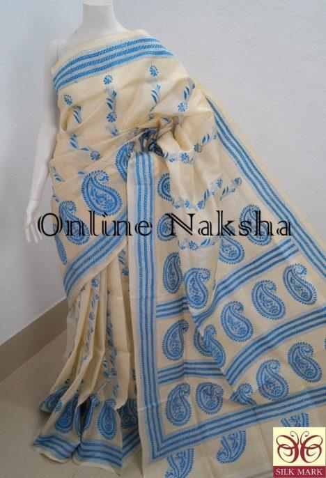 Kantha Stitch Tussar