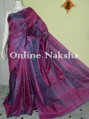 Plain Pure Silk Saree
