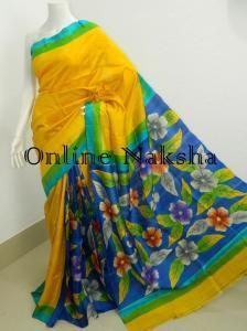 Floral Silk Saree