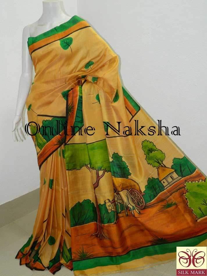 Vintage Handpainted Silk Sarees