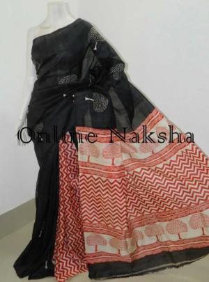 Printed Pure Silk Sari