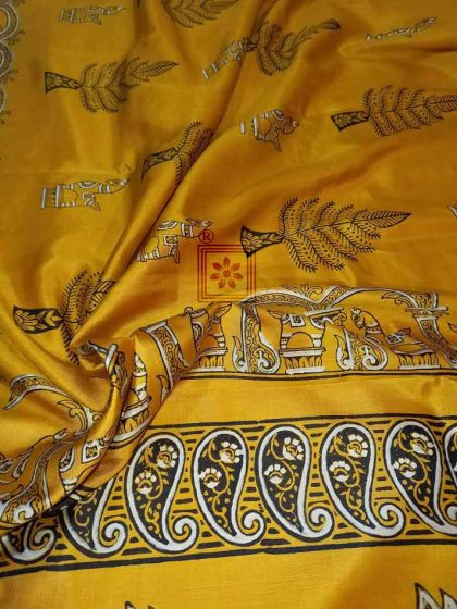 Bengal Printed Silk Sarees Online