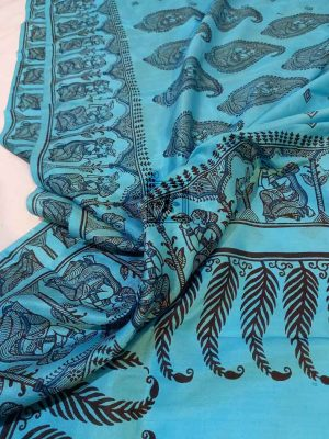 Block Printed Silk Sarees Online
